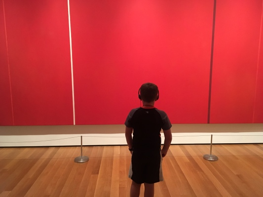 Simplicity, Child Stares at Art (Stuart)