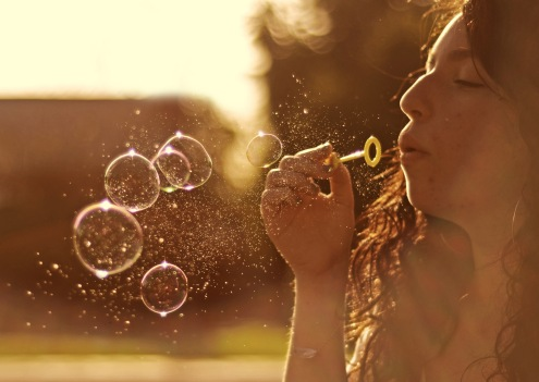 I love bubbles. So much. by Sam Wolff.